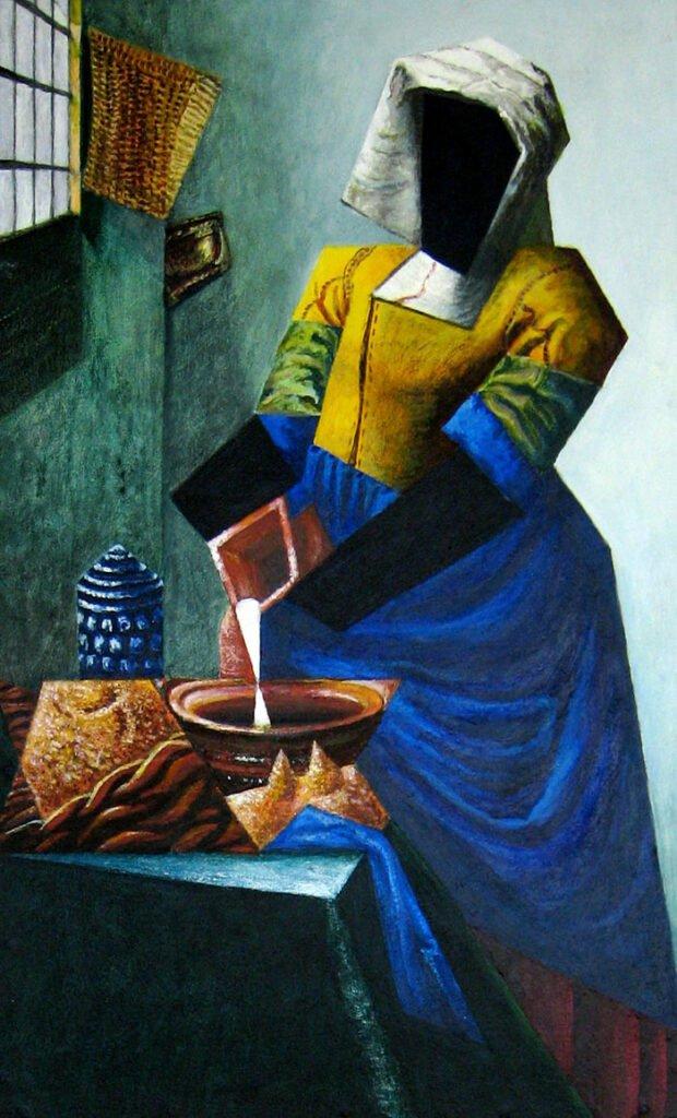The Milkmaid - Hybrid Paintings