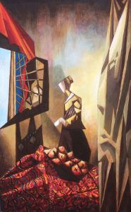 HYBRID: Girl Reading at an Open Window (after Vermeer) 2015